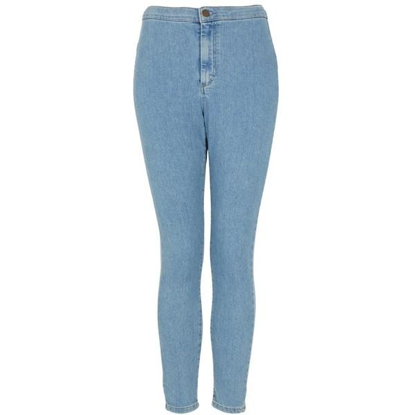 Topshop Moto 'Joni' High Rise Skinny Jeans (Mid Stone) - Polyvore