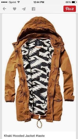 jacket khaki fall fashion aztec fall jacket spring jacket