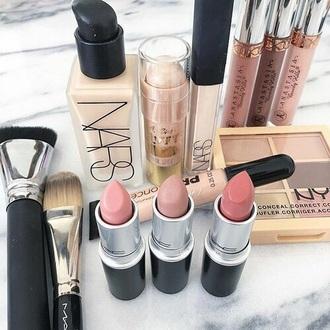 make-up lipstick lip gloss foundation nude nars cosmetics pink