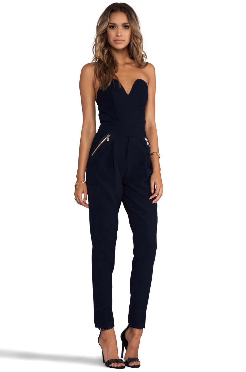 Three Floor Sky High Jumpsuit in Navy | REVOLVE