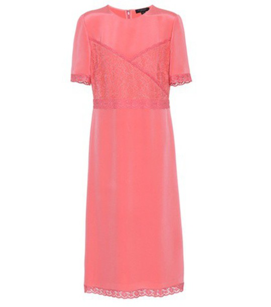 Burberry Silk-marocain dress in pink