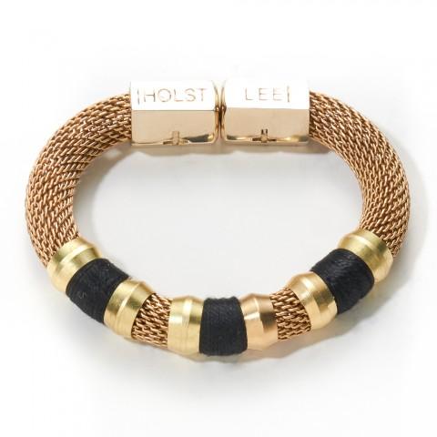 Mesh Classic Bracelet Black Bracelets - HOLST   LEE