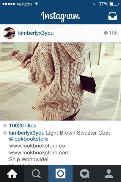 sweater neutral big cute
