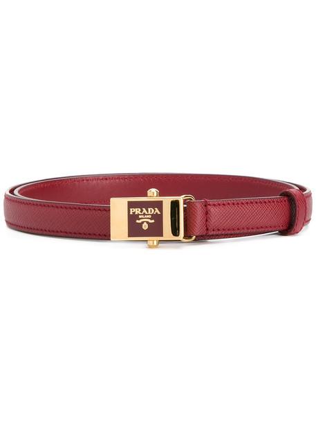 women belt leather red