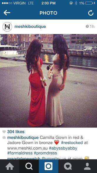 dress long dress bronze long prom dress prom dress summer dress evening dress formal event outfit classy dress prom gown