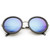 Womens Oversize Trendy Round Circle Fashion Revo Mirror Lens Sunglasse