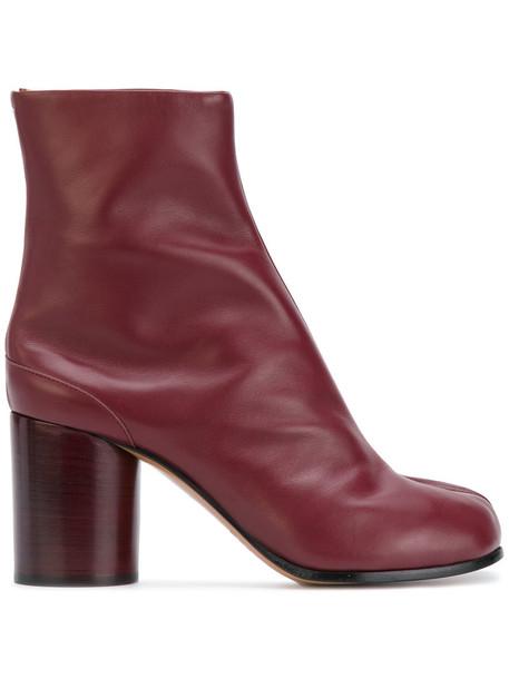 MAISON MARGIELA women leather red shoes