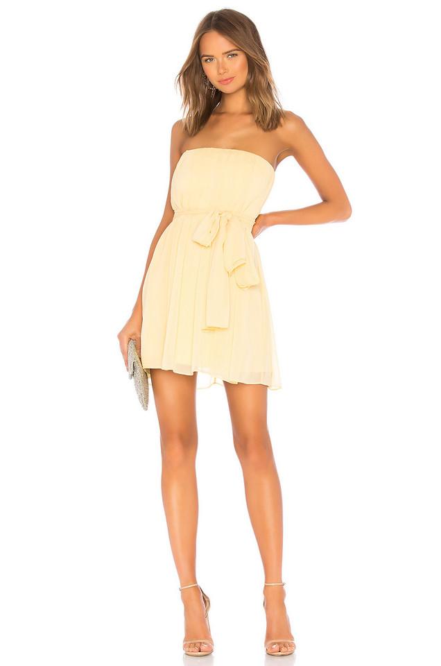 NBD Paradisco Mini Dress in yellow