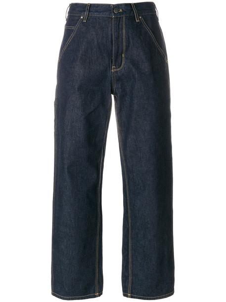 Calvin Klein Jeans jeans high waisted high women cotton blue