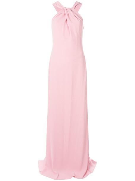 BOUTIQUE MOSCHINO gown women draped purple pink dress