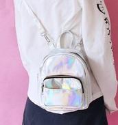 bag,girly,girly wishlist,holographic,holographic bag,shoulder bag