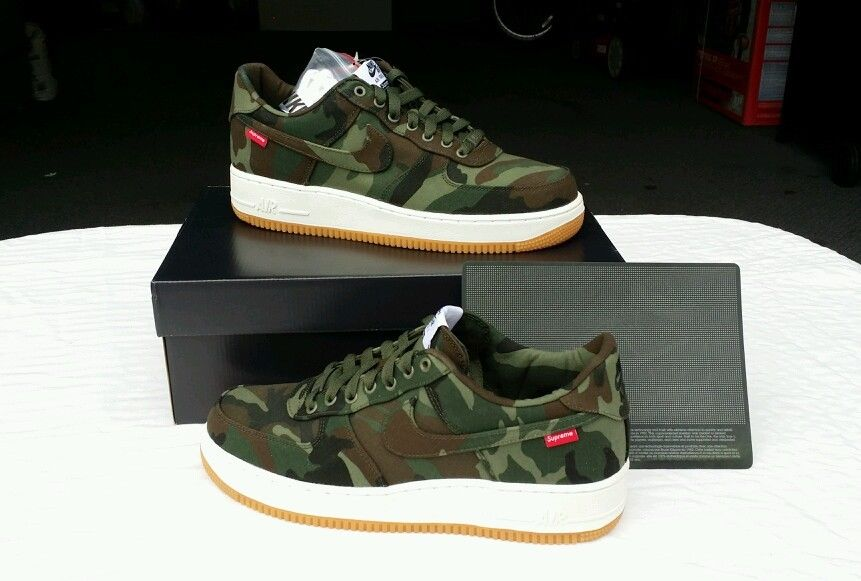 nike air force 1 supreme camo hoodie