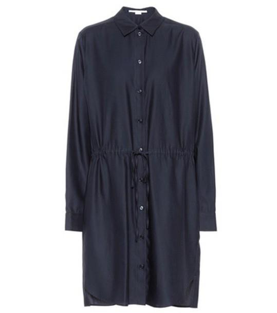 Stella McCartney dress shirt dress cotton blue