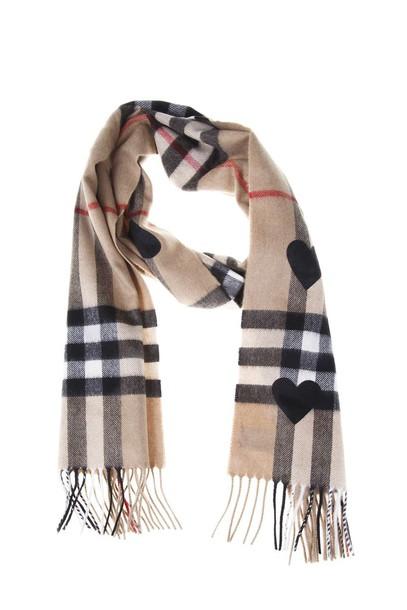 Burberry heart scarf print camel