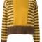 Marni geometric jumper, women's, size: 42, brown, mohair/wool/nylon 12