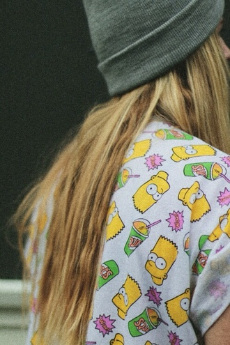 shirt alli simpson hat bart simpson the simpsons t-shirt beanie