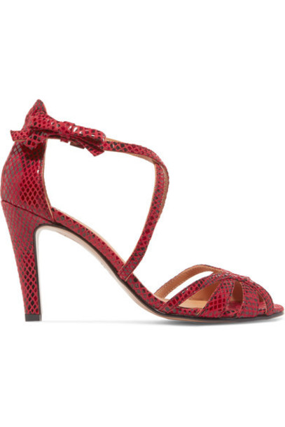 snake sandals leather sandals leather red shoes