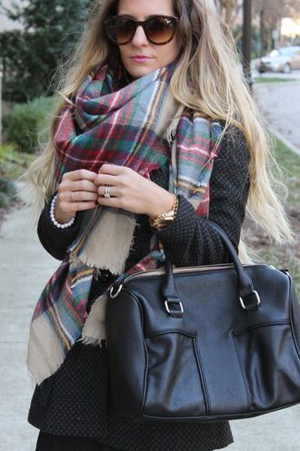 scarf plaid flannel colorful earthy fall outfits perfect oversized pretty yellow tan red winter outfits flannel scarf