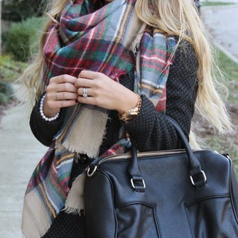 red scarf colorful tan oversized flannel fall outfits winter outfits perfect earthy yellow loveit flannel scarf scarf red