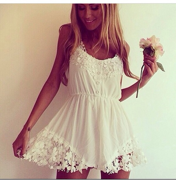 white dress white short dress dress romper romper