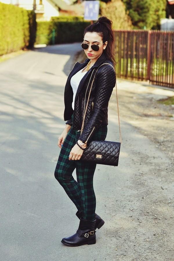 disturbed style jacket t-shirt pants bag shoes sunglasses
