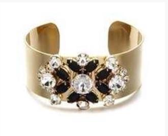 jewels crystal rhinestones gold cuff