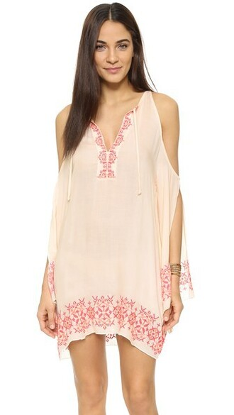 cover up embroidered blush swimwear
