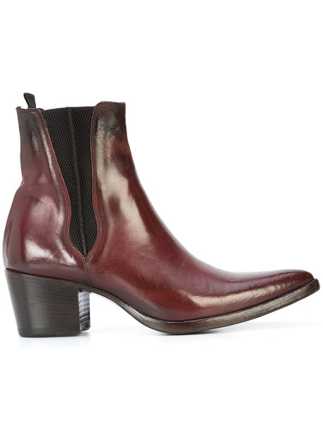 ALBERTO FASCIANI women chelsea boots leather red shoes