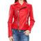 70% off - mangotti red leather zip detail biker jacket, designer jackets sale, outlet, secretsales