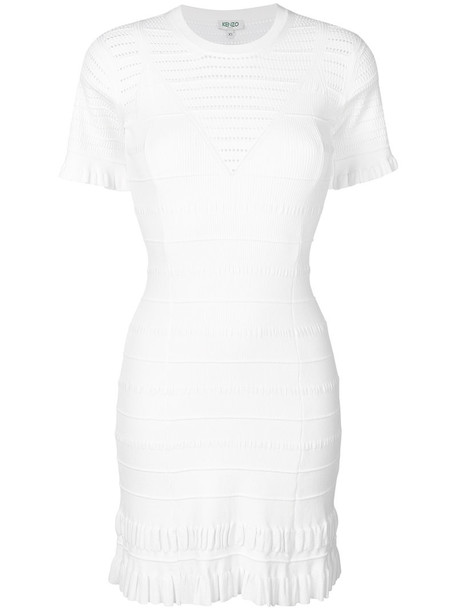 dress knitted dress women white