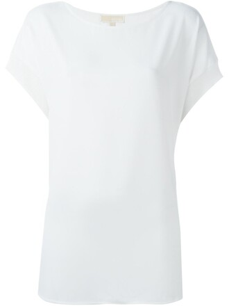 t-shirt shirt loose women spandex fit white top