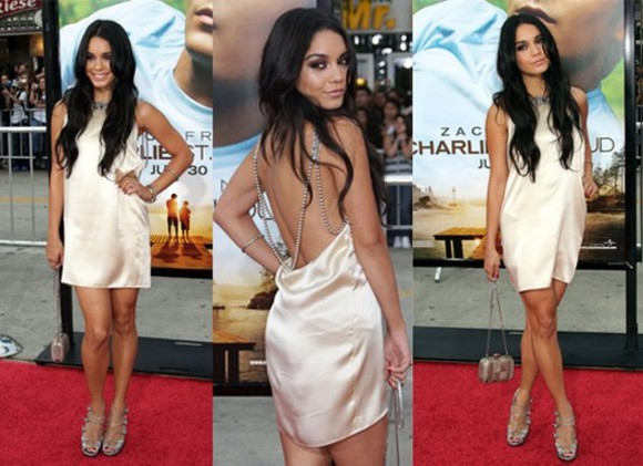 dress sexy red carpet vanessa hudgens clothes celebs red carpet dress actress evening dress