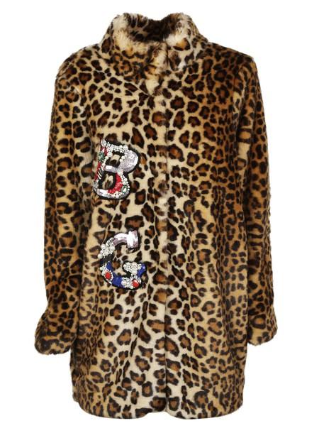 Blugirl coat leopard print coat print leopard print