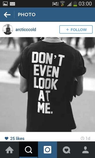 t-shirt black and white antisocial