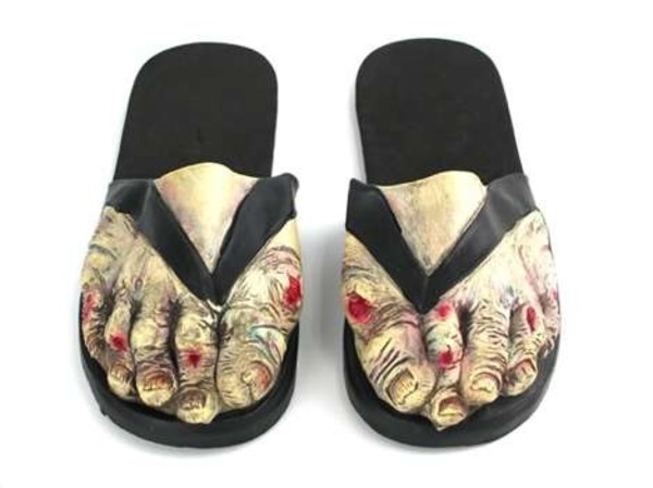 shoes toes scary halloween sandals zombie