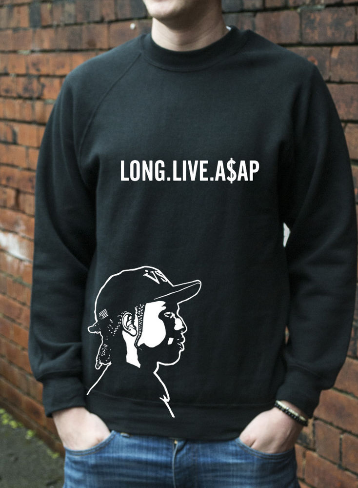 LONG LIVE A$AP HOODY JUMPER ASAP ROCKY MOB HIP HOP DOPE SWAP MENS WOMANS L256 | eBay