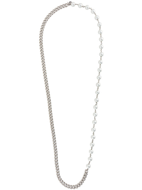 Mm6 Maison Margiela chain necklace women necklace grey bronze metallic jewels