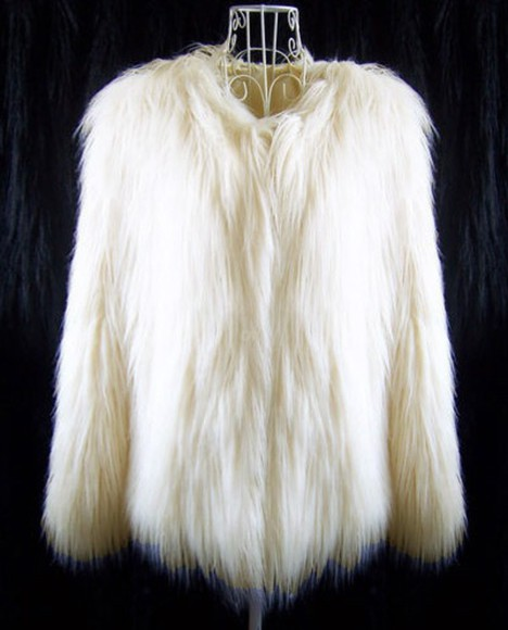 jacket faux fur fur hairy