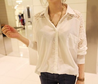 blouse white t-shirt top kawaii lace up fall outfits fashion girly clothes button up blouse cute style