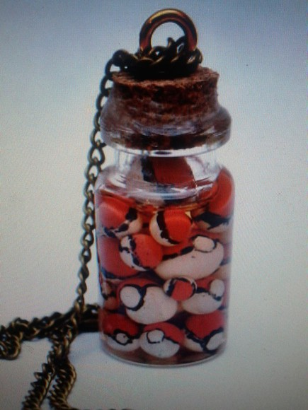 pokemon necklace jewels bottle necklace