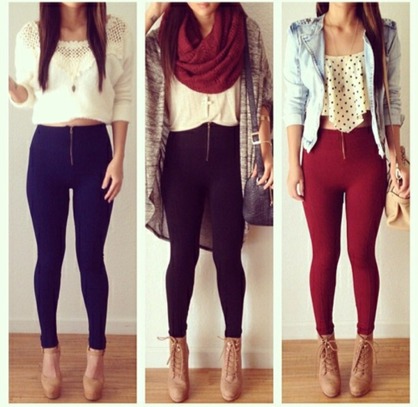 jeans denim colorful red black blue hot girl top shirt shoes jacket scarf pants leggings jeggings