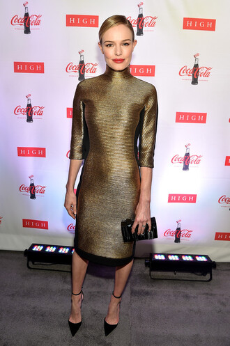 dress kate bosworth turtleneck midi dress bag clutch