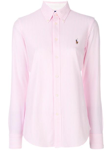 Polo Ralph Lauren shirt women cotton purple pink top