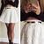 Long Sleeve Top & White Rose Skirt|Disheefashion