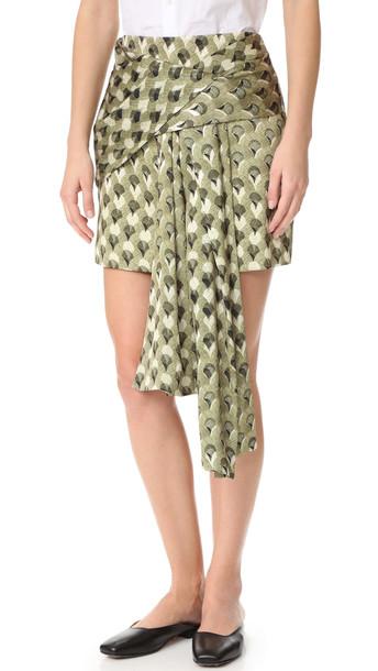 Acler skirt print