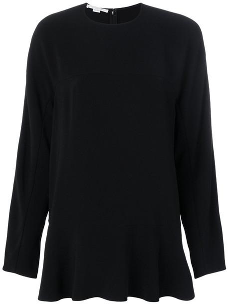 Stella McCartney - Cady longsleeved blouse - women - Spandex/Elastane/Acetate/Viscose - 42, Black, Spandex/Elastane/Acetate/Viscose