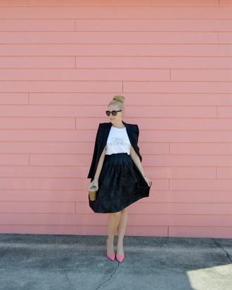 fash boulevard blogger jacket skirt top jewels shoes