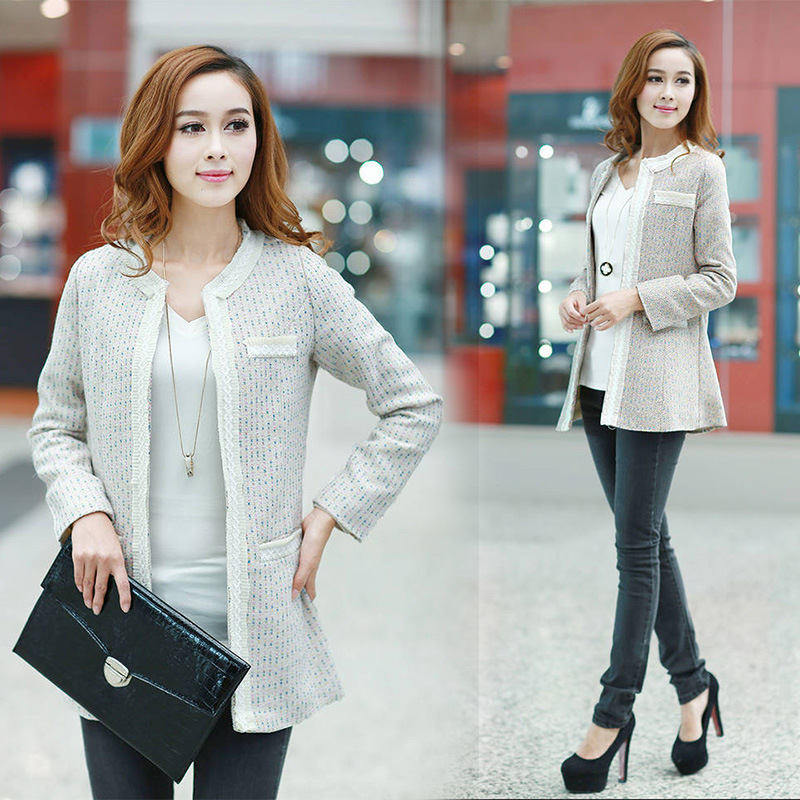 Cheap 2013 new coat jacket Korean round neck wool coat jacket and long sections Wool / Blends in Wool & Blends from women clothing on sightface.com