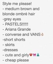 dress,shoes,shorts,skirt,shirt,hair accessory