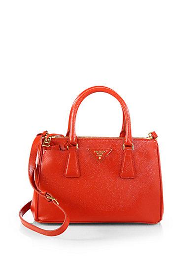 Prada - Saffiano Vernice Tote Bag - Saks.com